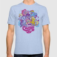 My Little Chocobo Mens Fitted Tee Athletic Blue SMALL