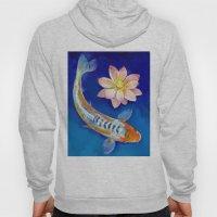 Koi Fish And Lotus Hoody