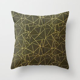 Throw Pillow - Ab 2 R Black and Gold - Project M