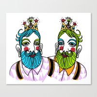 Crown Beard Twins Canvas Print
