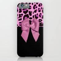 Pink& Black Leopard Print and Bow iPhone 6 Slim Case