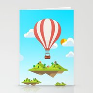 Flying Islands Stationery Cards