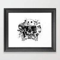 SkullAndCrossbones Framed Art Print