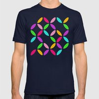 Colour Block Mens Fitted Tee Navy SMALL