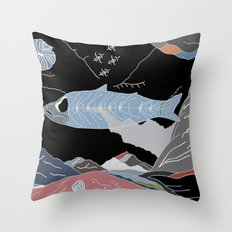the Fossil Record Throw Pillow