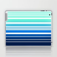 Bay Ombre Stripe: Mint Navy Laptop & iPad Skin