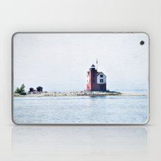 Round Island Lighthouse Laptop & iPad Skin