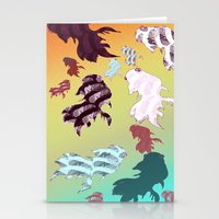 Dancing Fishes II Stationery Cards