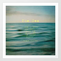 The Sea - typo Art Print