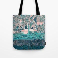 washington dc city skyline Tote Bag