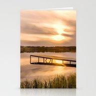 Cold Sunset Stationery Cards