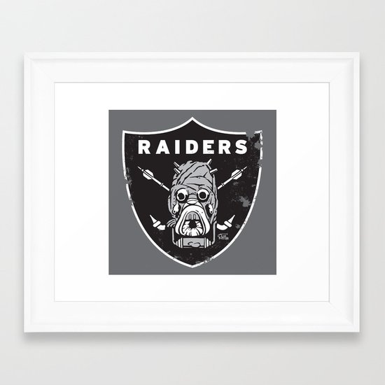 Tusken Raider Nation Pride Framed Art Print
