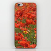 Red Poppies 1918 iPhone & iPod Skin