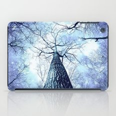 Wintry Trees Periwinkle Ice Blue Space iPad Case