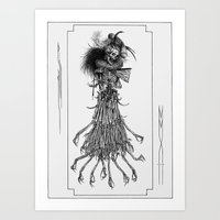 Death Gown Art Print