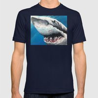 Shark Mens Fitted Tee Navy SMALL
