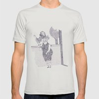 Tremebunda Mens Fitted Tee Silver SMALL