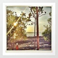 Twin Suns Art Print