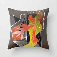 Abstract Design 7752 Throw Pillow