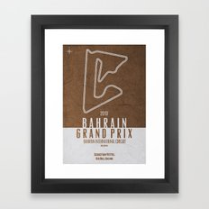 2013 Bahrain Grand Prix Framed Art Print