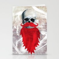 Beard Skull Stationery Cards