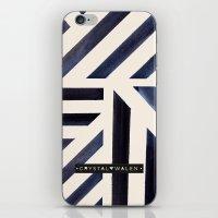Watercolor Stripe Midnight iPhone & iPod Skin