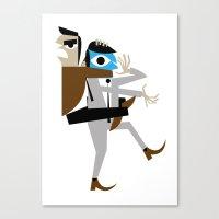 Business Brawl - The Sleeper Canvas Print