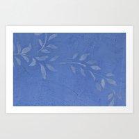 Blue Ivy Vine Art Print