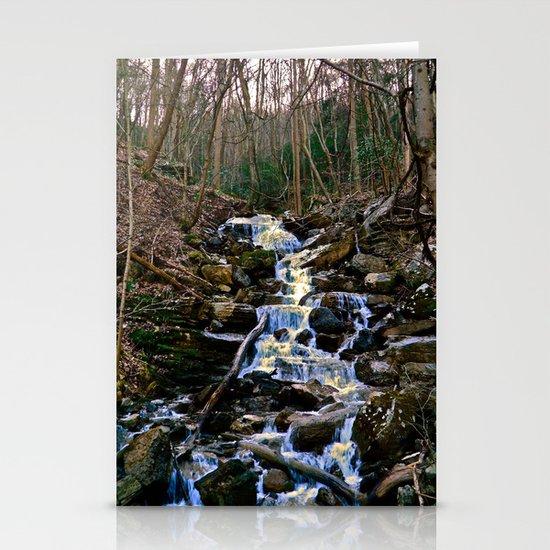 Mountain Waterfall Stationery Card