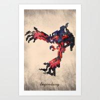 I Am Legendary Y- Geometric Art Print