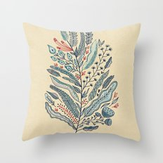 Turning Over A New Leaf Throw Pillow