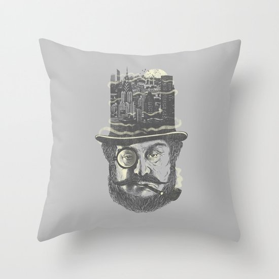 Old man hatten Throw Pillow