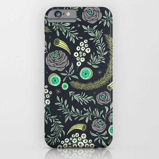 Winter's Eve Floral iPhone & iPod Case