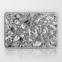 Black And White Zentangl… Laptop & iPad Skin