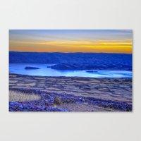 A Titicaca Sunset in Blue Canvas Print