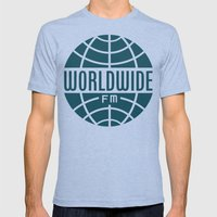 WorldWide FM Mens Fitted Tee Tri-Blue SMALL