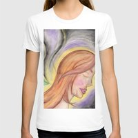 Translucent Life Womens Fitted Tee White SMALL