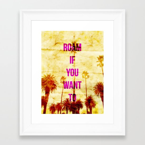 Roam Framed Art Print