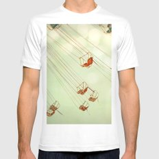 Dreamspun  White SMALL Mens Fitted Tee