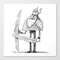 Skinny Jeans Viking Canvas Print