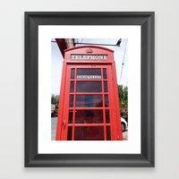 Telephone Booth Framed Art Print