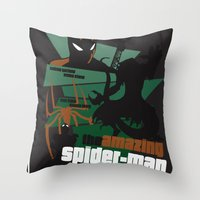 Amazing Spider-man Poster Throw Pillow