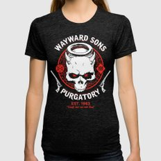 Wayward Sons Womens Fitted Tee Tri-Black SMALL