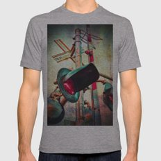 Crossings Mens Fitted Tee Athletic Grey SMALL
