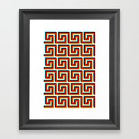 Pixel Wave Framed Art Print