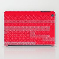 White Over Red iPad Case