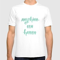 Anything can happen Mens Fitted Tee White SMALL