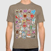 I Love Stickers Mens Fitted Tee Tri-Coffee SMALL