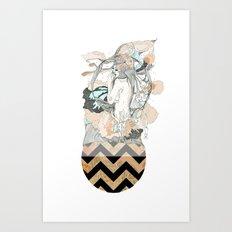 floral ego Art Print