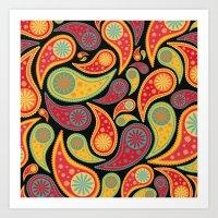 Bohemian Paisley  Art Print